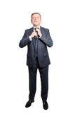 Mature Businessman wearing Suit. Senior Man Isolated Royalty Free Stock Photos