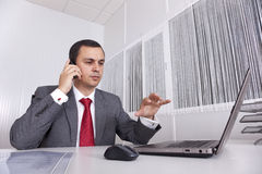 Mature businessman working Stock Images