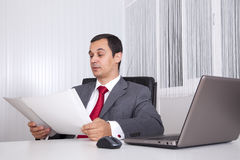 Mature businessman working Royalty Free Stock Images