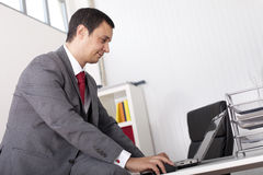 Mature businessman working at the office Stock Photography