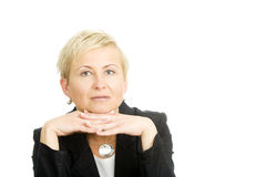 Mature businesswoman Royalty Free Stock Image