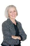 Mature Businesswoman In Black Jacket Stock Photo