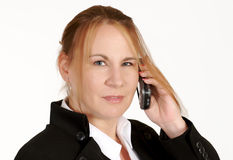 Mature businesswoman with cellphone Stock Photo