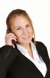 Mature businesswoman with cellphone Stock Image