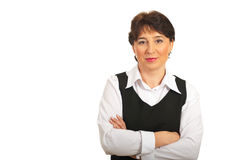 Mature businesswoman with copy space Stock Photos