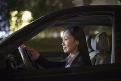 Mature Businesswoman Driving Car Royalty Free Stock Photos