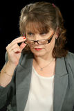 Mature Businesswoman Glasses Royalty Free Stock Photography