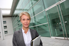 Mature businesswoman going to meeting Stock Image