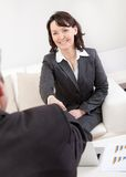 Mature businesswoman at the interview Royalty Free Stock Photos