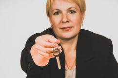 Mature businesswoman Stock Images