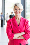 Mature businesswoman office Royalty Free Stock Photos
