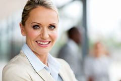 Mature businesswoman office Royalty Free Stock Image