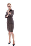 Mature businesswoman pointing at the viewer Stock Photos