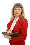Mature Businesswoman or Realtor royalty free stock images