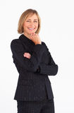 Mature businesswoman smiling at the camera Stock Photo