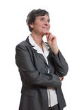Mature businesswoman thinking Royalty Free Stock Photos