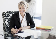 Mature Businesswoman Working At Home stock photography