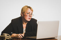 Mature businesswoman working with laptop Stock Photo