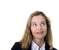 Mature bussines woman looking up Stock Images