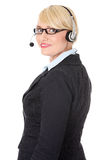 Mature call center. Royalty Free Stock Photo