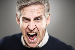 Mature Caucasian Man With An Angry Stare Royalty Free Stock Image
