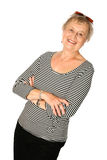 Mature caucasian woman isolated Royalty Free Stock Photography