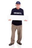 Mature charity worker banner Royalty Free Stock Photos