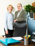 Mature colleagues Royalty Free Stock Photography