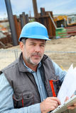 Mature construction manager on building site Stock Photography