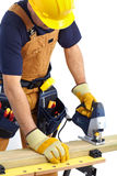Mature contractor Royalty Free Stock Photography