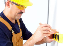 Mature contractor Royalty Free Stock Photos