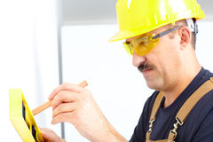 Mature contractor Stock Photography