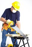 Mature contractor Royalty Free Stock Image