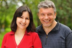 Mature couple stock photography