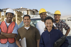 Mature Couple With Architect Team Stock Photo