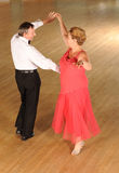 Mature couple ballroom dancing Stock Images
