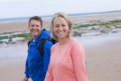 Mature Couple at The Beach Royalty Free Stock Image