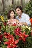 Mature Couple At Botanical Garden Stock Photography