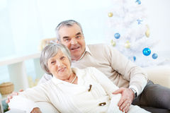 Mature couple in casual royalty free stock image