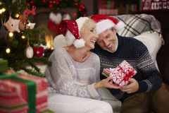 Mature couple during Christmas Royalty Free Stock Photos