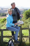 Mature Couple On Country Walk Stock Photography