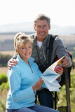 Mature Couple On Country Walk Royalty Free Stock Photo