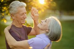 Mature couple dance Royalty Free Stock Images