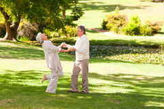 Mature couple dancing Royalty Free Stock Photography
