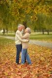 Mature couple dancing Stock Photos