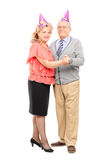 Mature couple dancing at some party Stock Photography