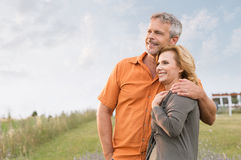 Mature Couple Daydreaming Stock Image