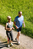 Mature couple doing sport - jogging Stock Image