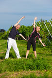 Mature couple doing sport outdoors Stock Photo