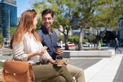 Mature couple eating outdoor royalty free stock photos